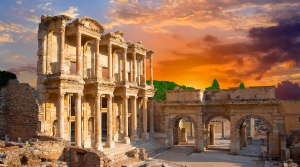 Visit the best ancient ruins in Turkey called Ephesus (2 hours away).